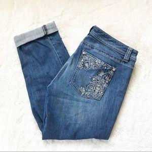 🌹WHBM Blanc Slim Cropped Jeans